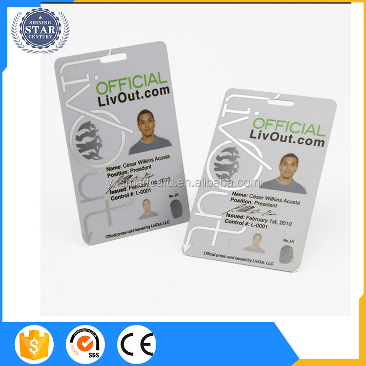 ID Cards 1k ISO 14443A 13.56MHz S50 with Photo ID Cards for Time Attendance NFC