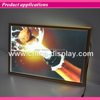 Indoor use advertising luxury aluminum photo frame led light box