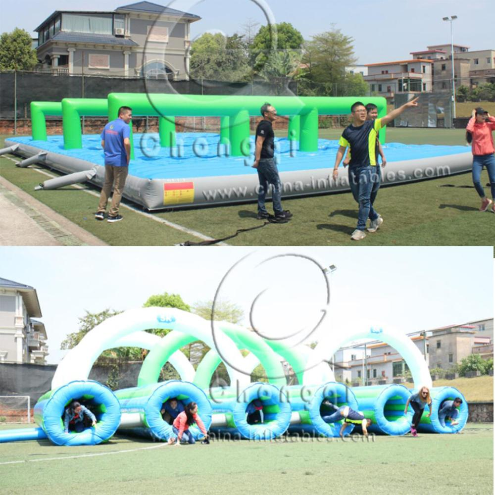 New design inflatable 5k adult obstacle course for sale