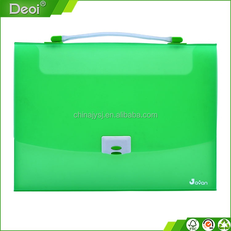 new design customized pp plastic document file case with handle