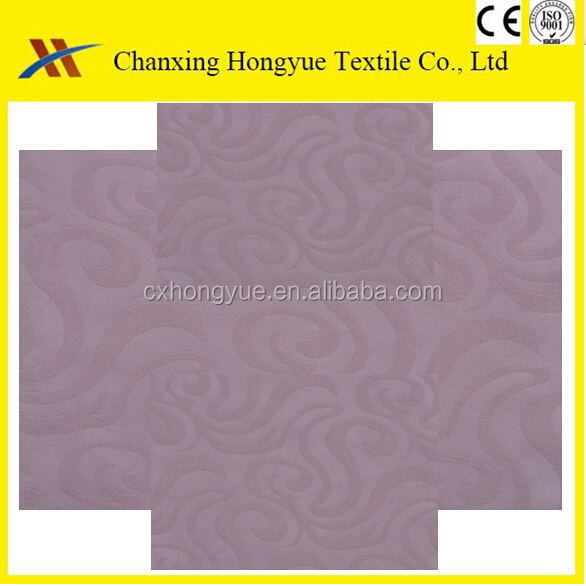White stripes Polyester embossed brushed fabric/288F Polyester soft embossed textile fabric for hotel bedding