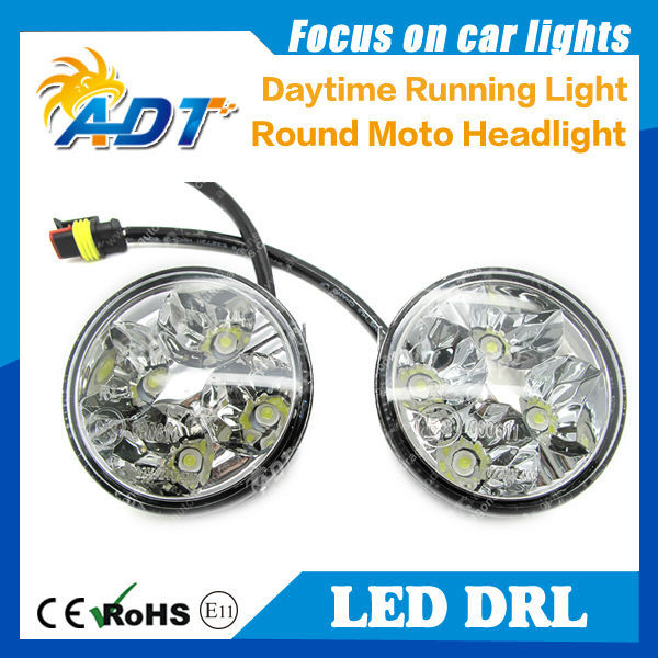 High lumen led drl 6000K round shape daylight