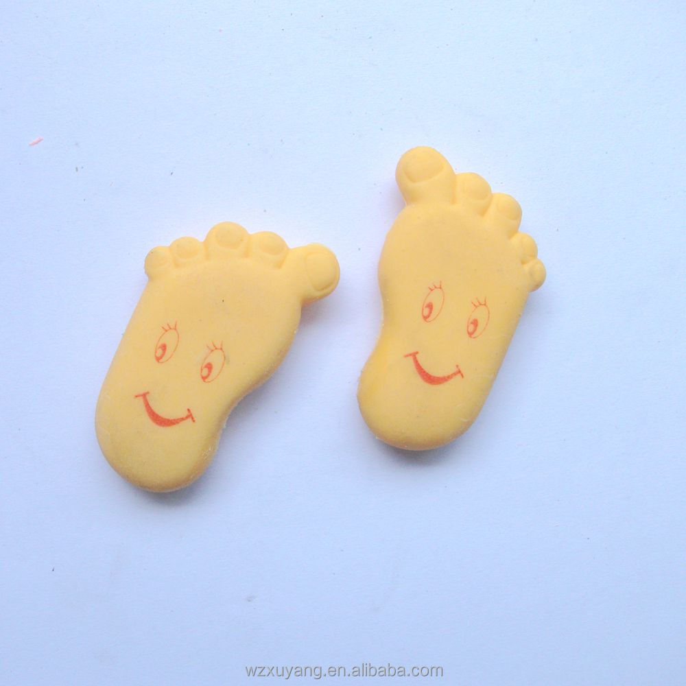 3D foot shaped eraser printing ink