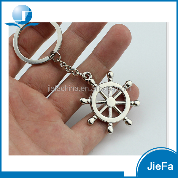 Custom logo printed wholesale promotional cheap price custom metal compass shape keychain