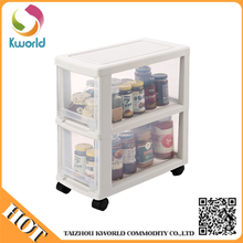 Portable removable narrow transparent plastic kitchen drawer storage cabinet with wheels,portable kitchen cabinets