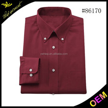 Wine red men slim casual long sleeve shirt for latest style