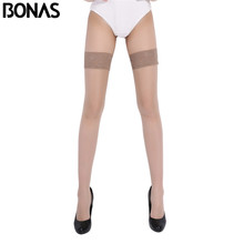 Bonas flesh-colored excellent quality fascinating transparent breathable sexy ladies lace stockings