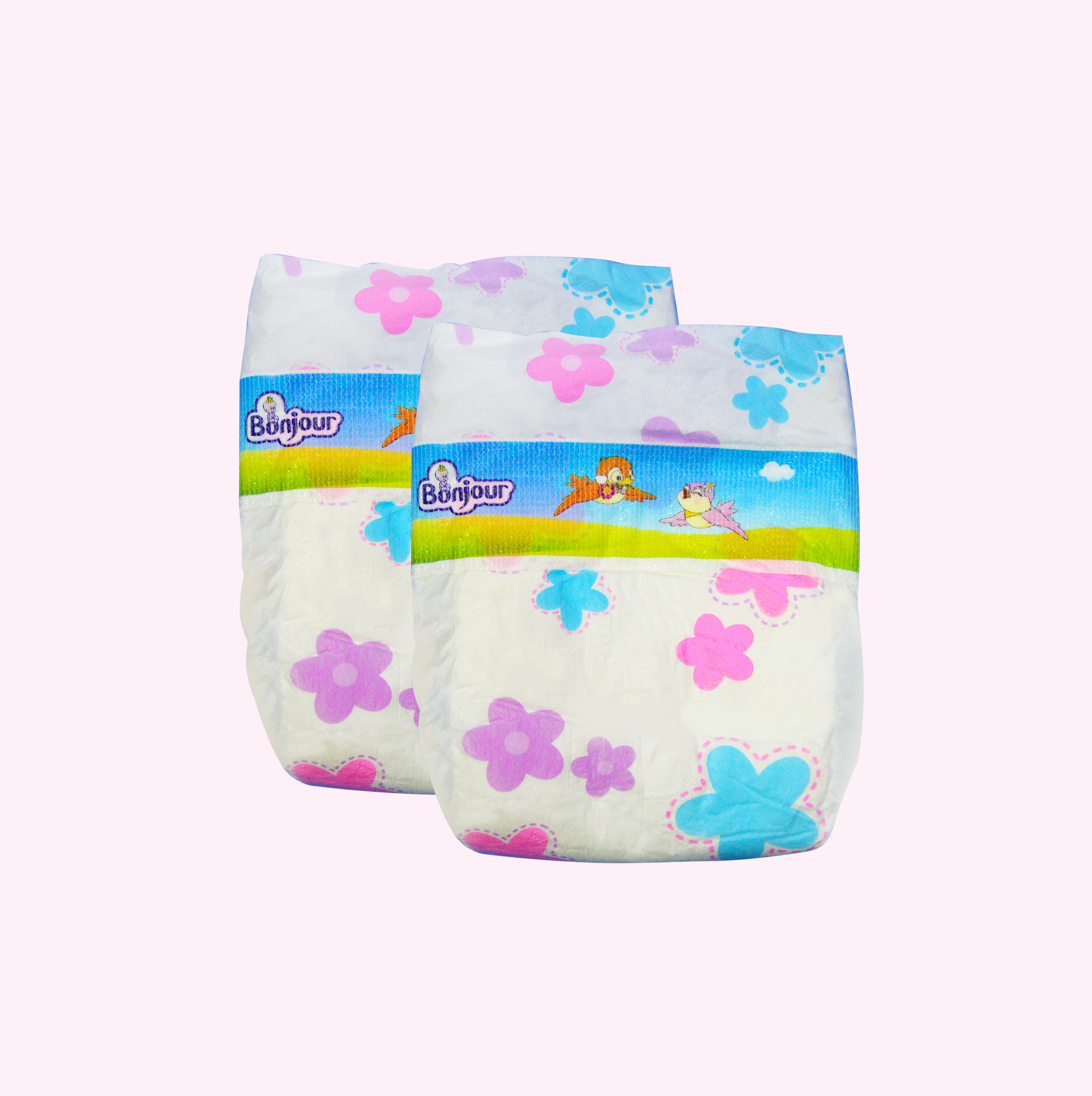 Bonjour baby diaper high quality in Africa baby cloth diaper