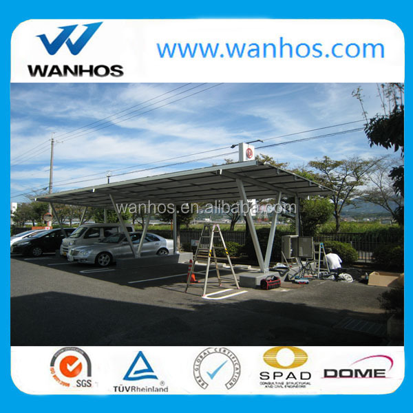 Solar PV aluminum double Carport with Aluminum Bracket, ground mounted pv