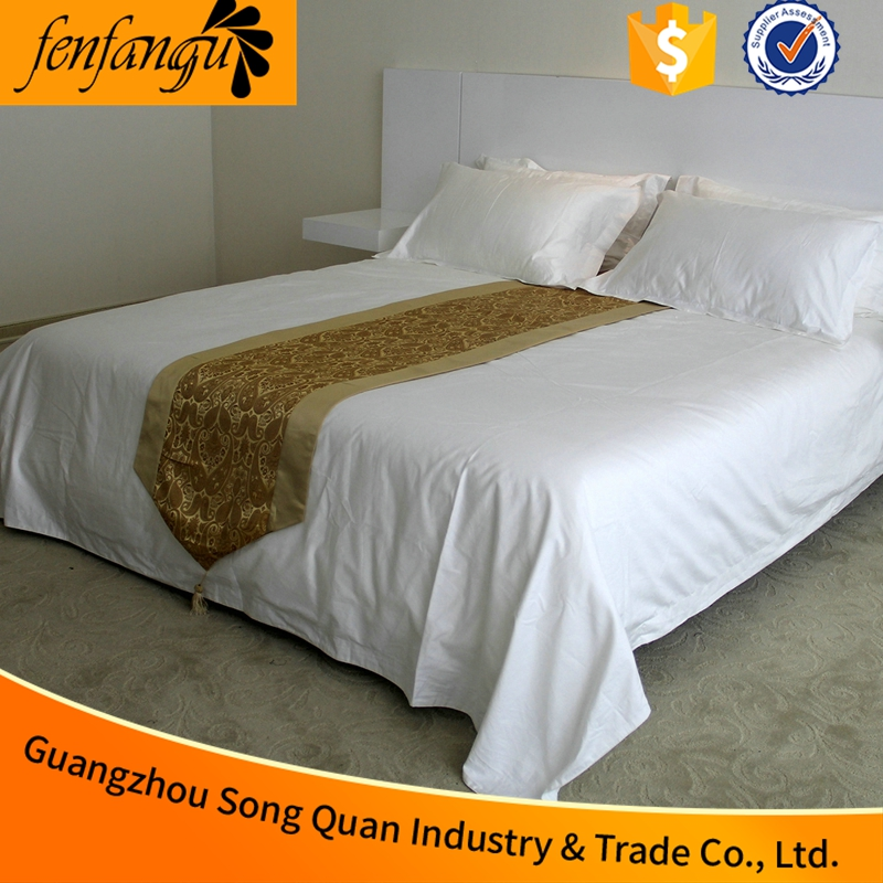 50% Cotton White 200T hotel cheap bed sheet