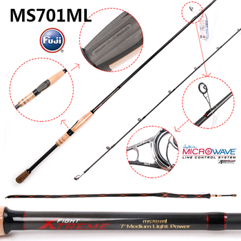 one section Fuji reel seat spinning fishing rod