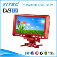 China Factory 7inch 12V DVB-T2 Portable Battery TV