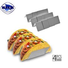 Kitchen Stainless Steel Taco Holder/ Stand/ RackTaco Shells With Stainless Steel Dip Cup