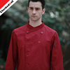 New Restaurant Hotel Kitchen Jackets Long Sleeves double breasted button Red Wine Color Unisex chef coat uniform