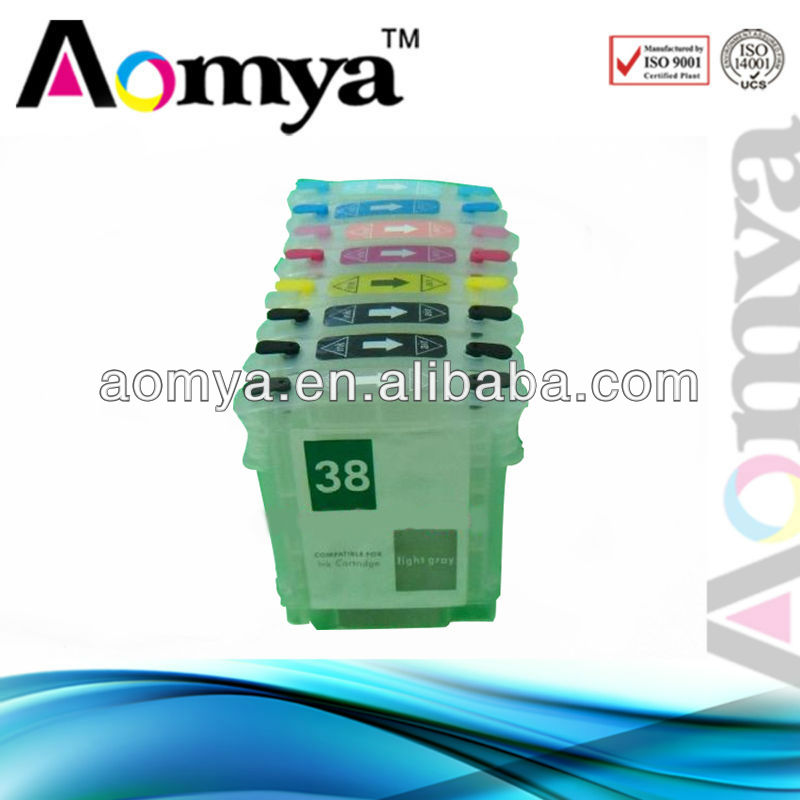 Refillable ink cartridge for HP10,HP11,HP12,HP13,HP14,HP18,HP38,HP70,HP72,HP82,HP84,HP85,HP88,HP940,HP940XL