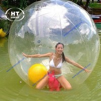 2017 high quality PVC/TPU bubble ball floating water ball inflatable water walking balls for sale