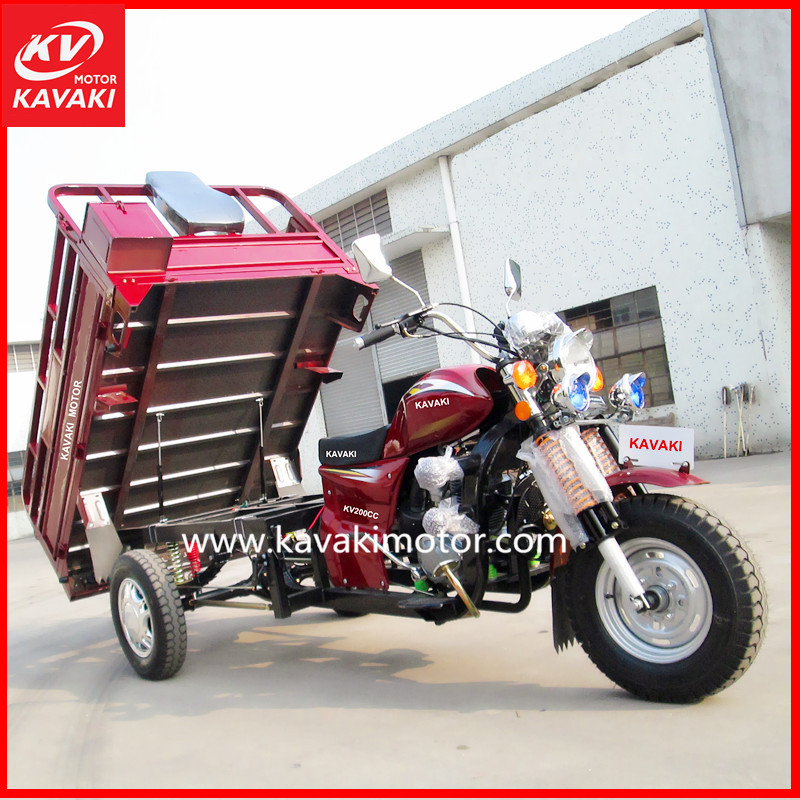 Professional exporter tourist 4-stroke vehicle bajaj commercial flatbed tricycle