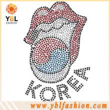 Garment accessory rhinestone heat transfer logo