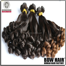 Hot selling brazilian hair aunty funmi hair double drawn spiral curl 110gram same length strand