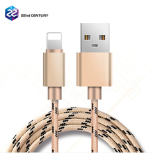 Wholesale high speed nylon mobile phone usb charger cable for apple iphone 7