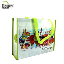 Cheap customize printed durable tote shopping promotional non woven bag