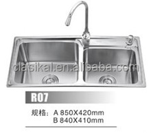 Topmount widely used stainless steel 304 portable kitchen sink