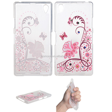transparent print tpu mobile phone back cover case for sony xperia premium for compact aqua ultra plus z c m t 1 2 3 4 5 6