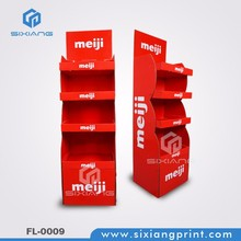 Retail Paper Cardboard Display For Milk Drinks