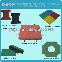 Rubber Tiles With EPDM Top Surface