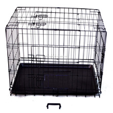 plastic powder coated foldable dog crate pet cage