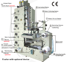 automatic paper flexo printing machine with slitting/ die cutting/ sheeting station