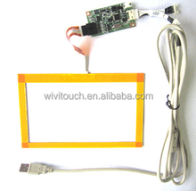 "7"" usb waterproof projected capacitive touch screen for all in one pc"