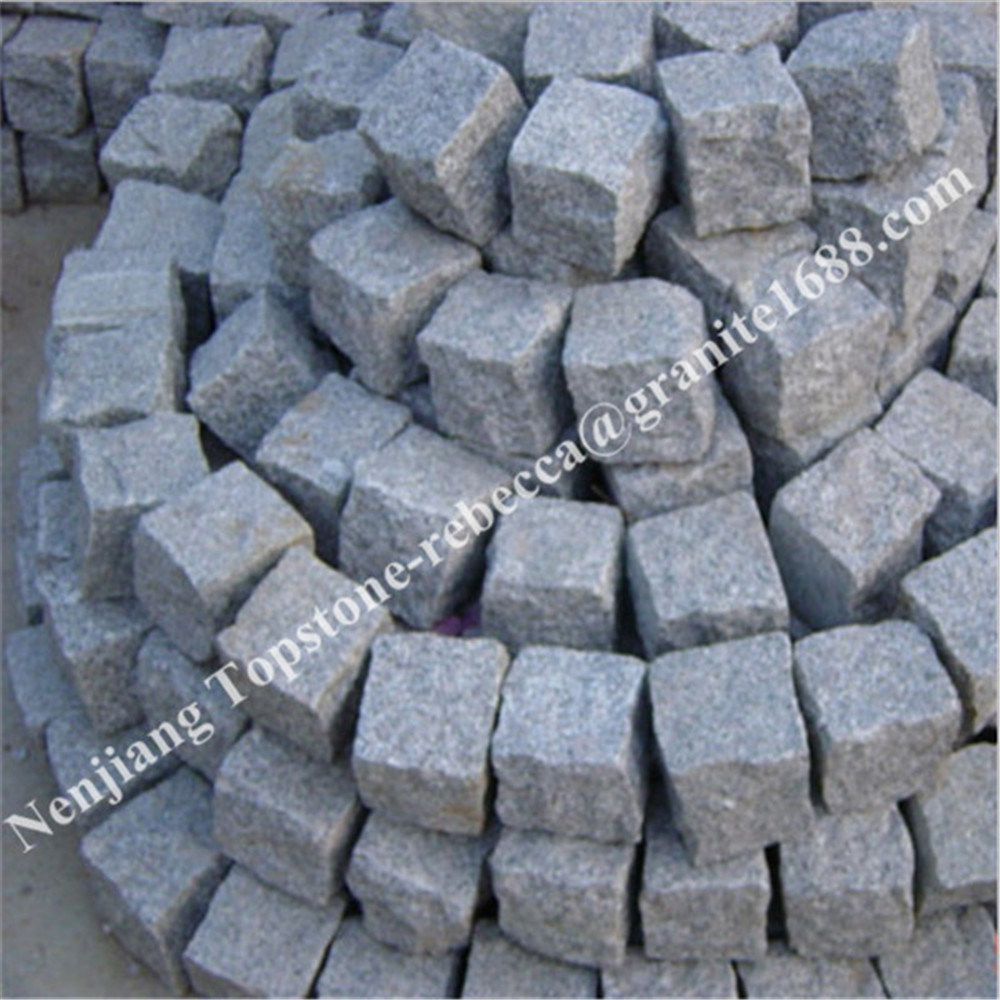 High Quality Grey Granite Cubic Paving Stone Landscape Stone Blocks