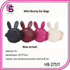 2014 Fashion Young Lady Plaid Bunny Ear cross body animal shape bag