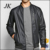 2016 new design mens leather motocycle biker bomber jacket with zipper chest pocket
