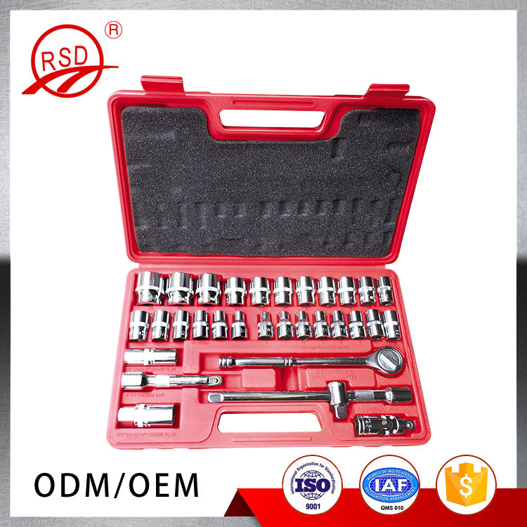 Good quality made in China RSD12932 CR-V steel Germany designed car repair tool kits 32 pieces socket set