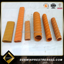 Orange and black plastic tube, corrugated pipe and duct