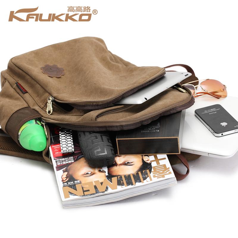 la mode et casual cartable cartable sac dos ordinateur portable sac dos en toile marron sac. Black Bedroom Furniture Sets. Home Design Ideas
