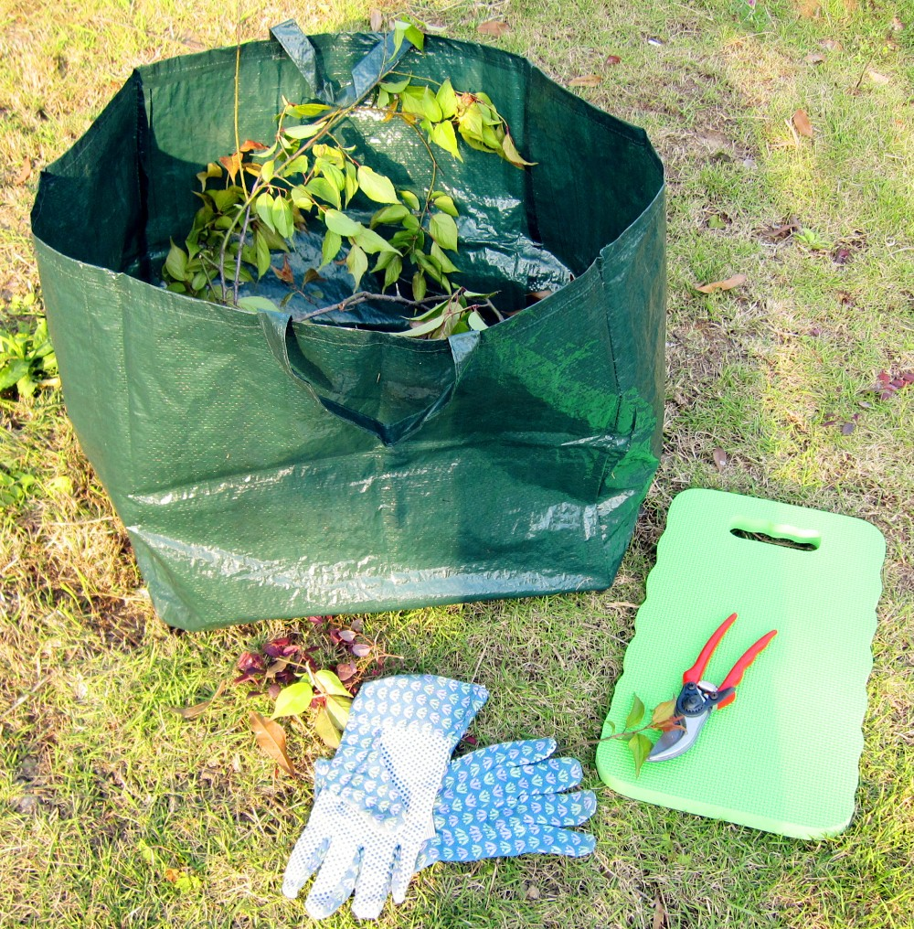 Collapsible PE Garden bag for leaf collector
