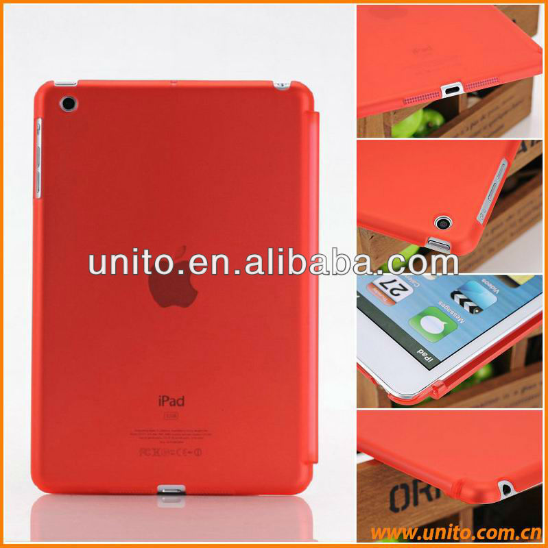 Smart Cover Compatible Companion PC Back Cover transparent matt pc Case For iPad Mini