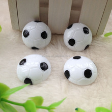 Promotional Loose Bulk Charm Flatback Football Epoxy Resin Cabochon For Bridge Magnet
