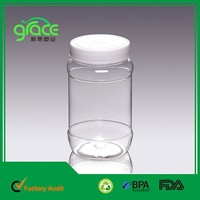 plastic pet bottle 650ml plastic food container