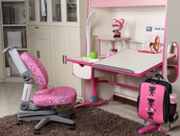 New design metal kids study table with chair