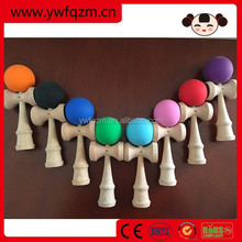 Free shipping best selling wholesale wooden rubber paint kendama