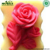R0907 New Silicone Soap mold flower Soap Forms rectangular mold