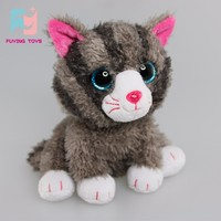 EN71 test battery operated animated cats plush stuffed toy