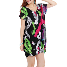 plus size bohemian smart new model casual dresses for fat ladies sexy african printed dresses kimono style night pajama