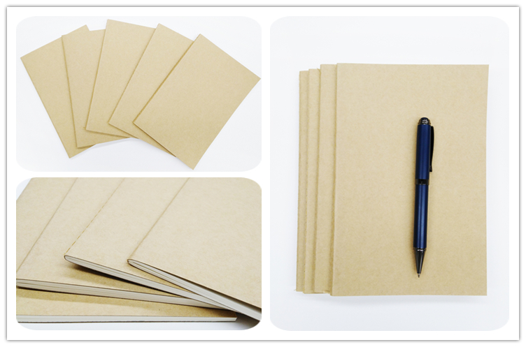 School Supplies 80 GSM Paper A5 Softcover Kraft Paper Notebook