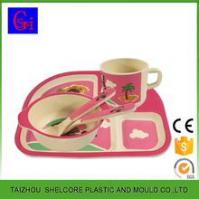 Wholesale Bamboo Fiber Dining Plate Set For Kids