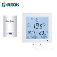 Beok BOT-323 Wired Digital Room Thermostat for Gas Boiler Heating Smart Programmable Boiler Thermoregulator